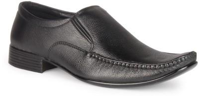 Leather King Lewis Black Slip On