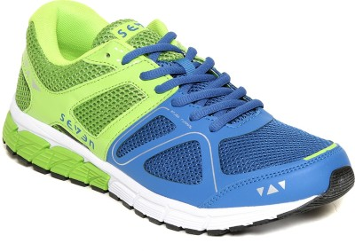 SEVEN Astron Nautical Blue Lime Punch Running Shoes
