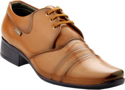 Zebra Men's Regular 100% Pure s.Leather New Edition Teak Formal Shoes. Lace Up
