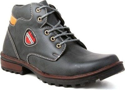 Skylark Synthetic Leather Green Boots