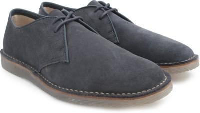 Clarks Darning Walk Dark Blue Suede Sneakers