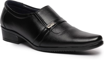 Feather Leather Genuine Leather Black Formal Shoes 033 Slip On Shoes