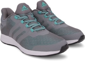 Adidas ADIPHASER W Running Shoes(Green, Grey, White)