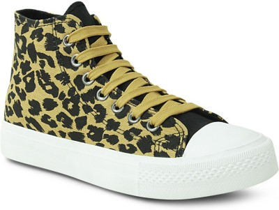 Get Glamr Leapord Lace Ups Sneakers