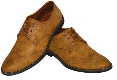 Fashion67 Stylish and Elegant Tan Brogue Casuals