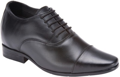 Elevato Black Cristiano Formal Height Inreasing Shoes Lace Up