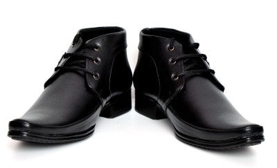Barretoes 502 black Solid Lace Up
