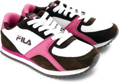Fila Jog 101 Running Shoes(Brown, Pink, White)