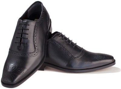 Walker Styleways Exquisite Black Leather Brogue Lace Up Shoes