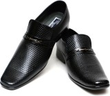 C Comfort Leather Party Wear Shoes (Blac...
