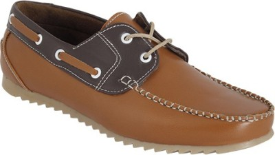 Gato Stylish Tan n Brown Loafers