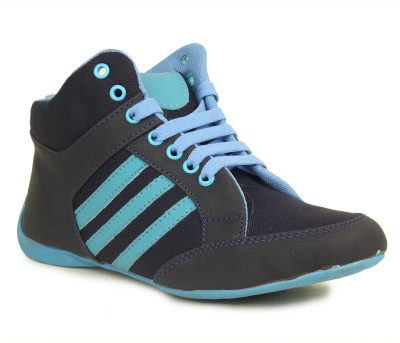Select Black/Blue Sneakers(Black, Blue)