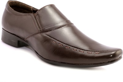 AVI Formal Brown Slip On Shoes