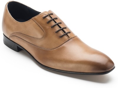 Heel & Buckle One-Cut Oxfords Shoes Lace Up