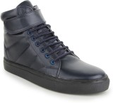 La Shades Force High Ankle Sneakers (Nav...