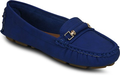 Kielz Blue-Synthetic Leather-Ladies Loafers Loafers(Blue) at flipkart