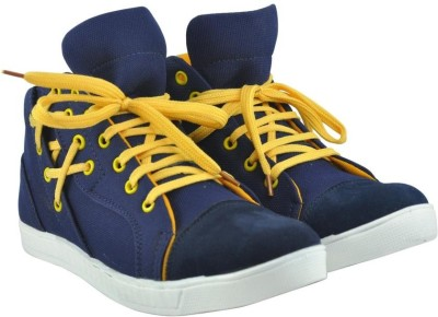 Alpha Man Funky Cool Blue And Yellow Sneakers