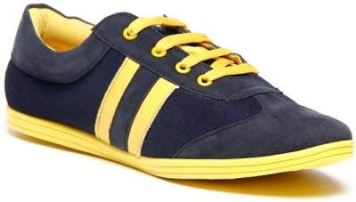 Zapatoz Blue & Yellow Sneakers