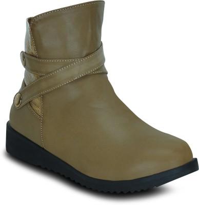 Get Glamr EDNA Boots(Beige)