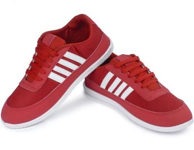 Vivaan Footwear Red-145 Canvas Shoes