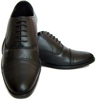 ASM Black Leather Oxford Shoes Lace Up