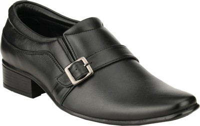 GAI Black Leather Formal Slip On Shoes
