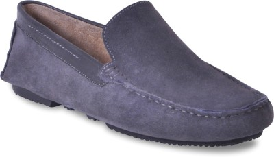 Harper Woods Grey Suede Classic Driving Shoes