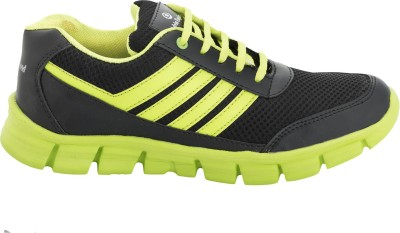 Advin England Black Green Sport Shoe Running Shoes
