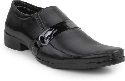 11e Frml-4002-Black Slip On Shoes