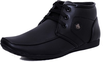 Black Tiger Men's Synthetic Leather Formal Shoes 094-Black-8 Casuals