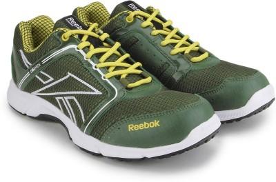 Reebok RUN STREAM Men Running Shoes(Olive, Yellow) at flipkart