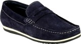 GAI Blue Leather Loafers (Blue)