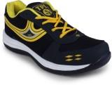 TPL Black & Yellow Men Sports Running Sh...