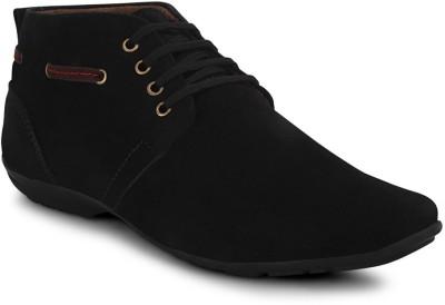 Get Glamr Black Men's Casual Shoes