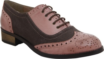 Hats Off Accessories Brogues Pink and Brown Corporate Casuals
