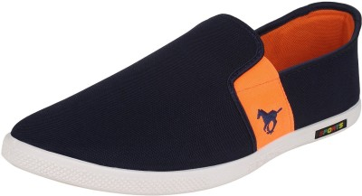 Whitecherry Canvas Blue Loafers & Shoes Casuals