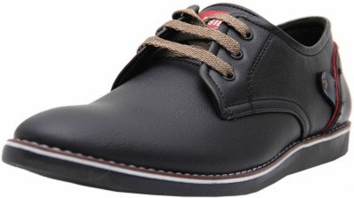 Black Tiger Men's Synthetic Leather Casual Shoes 088-Black-10 Casuals