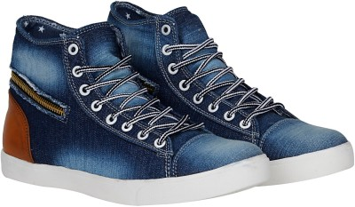 Kraasa Premium Sneakers, Boots, Canvas Shoes, Dancing Shoes(Navy)