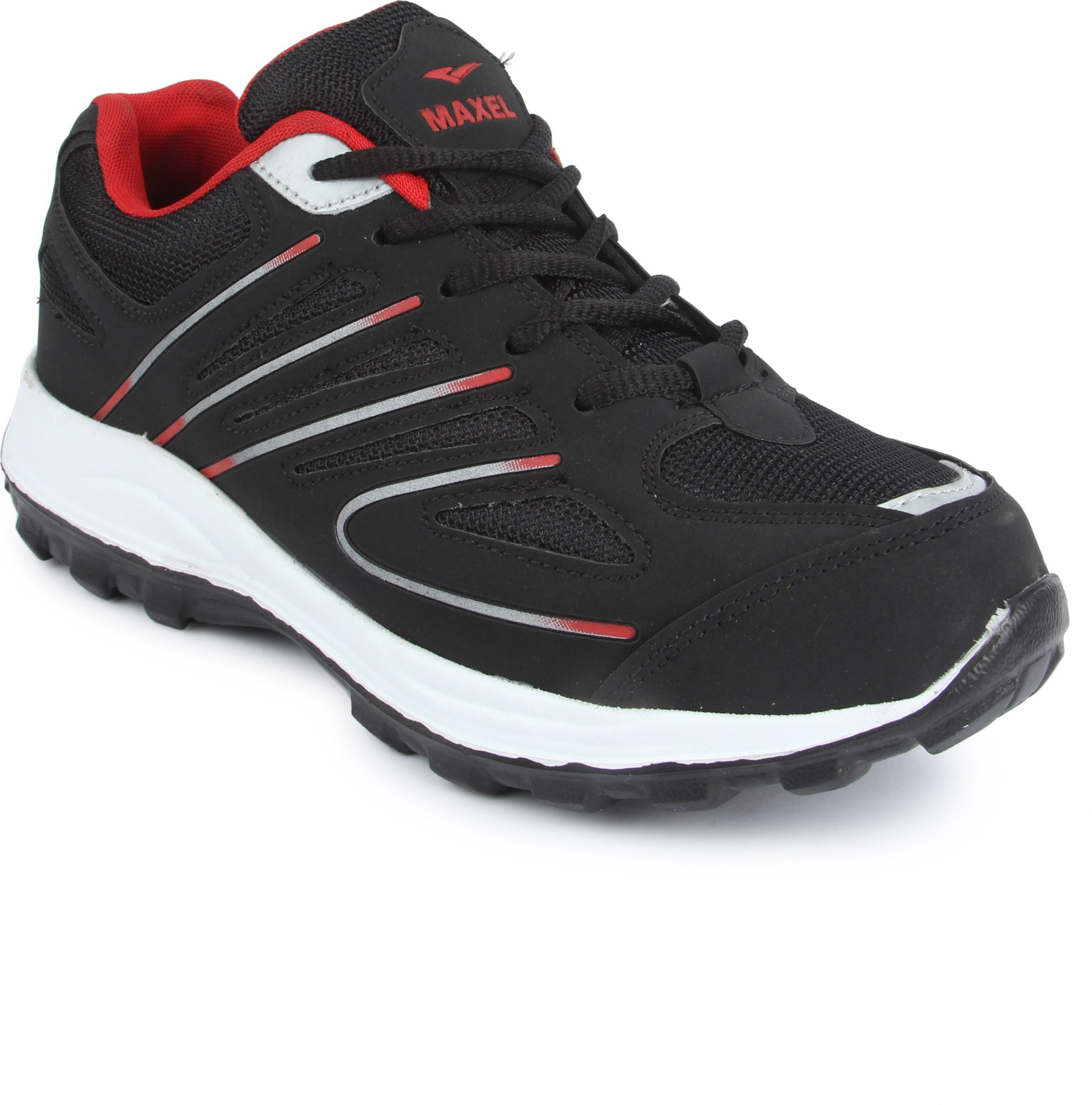 Maxel Black And Red Sports Running Shoes
