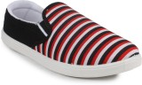 11e 11e Red Canvas Slip-On Casual Shoes ...
