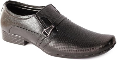 Shoes N Style Black Formal-13 Slip On Shoes
