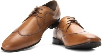 Red Tape Men Genuine Leather Lace Up Shoes(Tan)