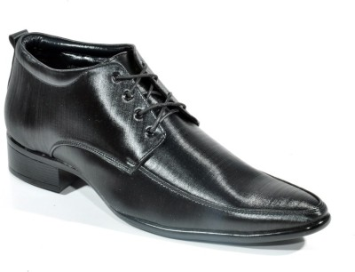 Big Wing Shiny Black Lace Up Shoes