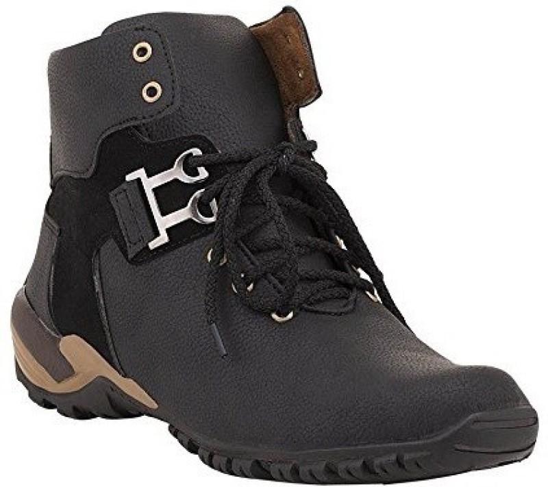 Vogue Stack Boots(Black)