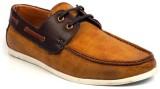 Vebero Classic Urban Boat Shoes (Tan, Br...