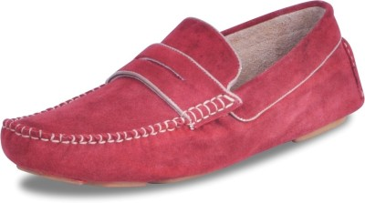 Harper Woods The devils - Red Suede Driving Shoes