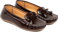 Ten Brown Synthetic Leather Loafer Loafers(Brown)