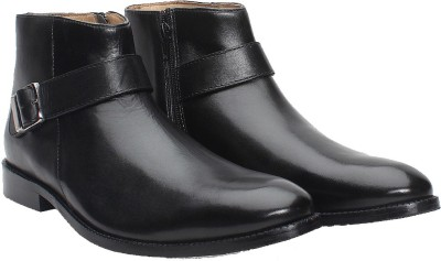 Brune BLACK LEATHER BRYCE BOOT Monk Strap