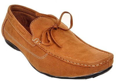 Raja Fashion Synthetic Tan Boat Shoes