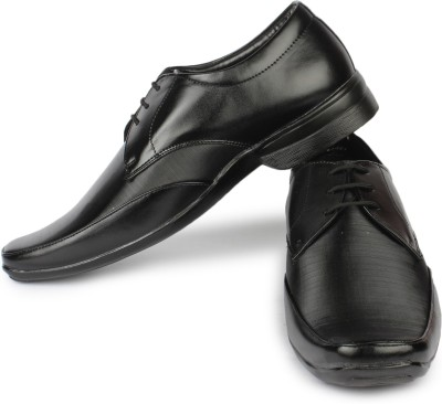 Street Walk Black Formal Shoes Lace Up